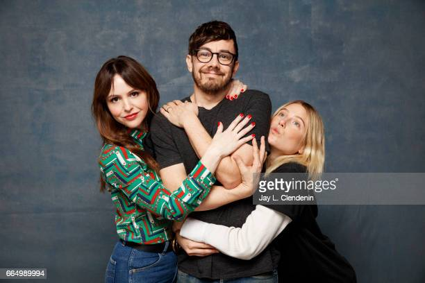 Actress/director Michelle Morgan actor Jorma Taccone and actress Dree Hemingway from the film LA Times are photographed at the 2017 Sundance Film...