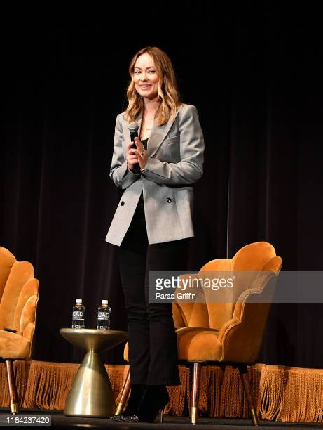 """Actress/director Olivia Wilde arrives onstage during """"Booksmart"""" screening Q&A during 22nd SCAD Savannah Film Festival on October 29, 2019 at..."""