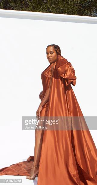 Actress/director Regina King gets ready for the 52nd NAACP Image Awards on March 27, 2021 in Los Angeles, California.