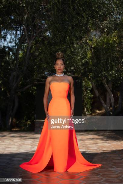 Actress/Director Regina King is seen in her red carpet look for the 23rd Costume Designer Guild Awards on April 13, 2021 in Los Angeles, California.