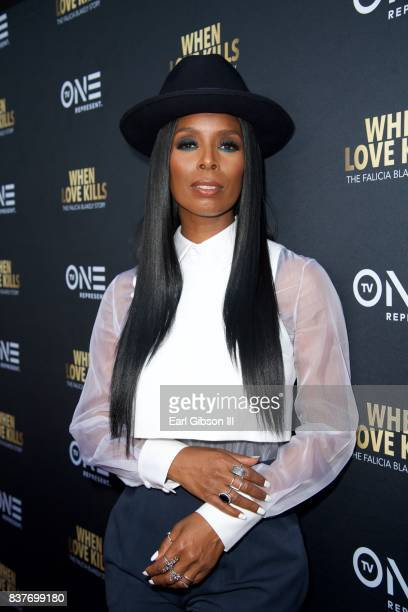 Actress/Director Tasha Smith attends the Premiere Of TV One's 'When Love Kill' at Harmony Gold on August 22 2017 in Los Angeles California