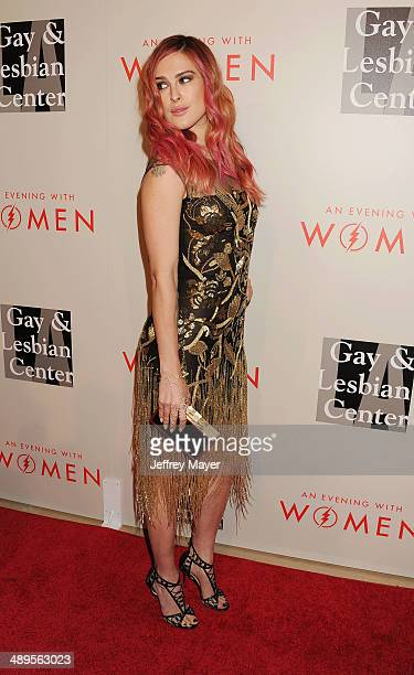 Actress/DJ Rumer Willis arrives at the 2014 An Evening With Women Benefiting LA Gay Lesbian Center at the Beverly Hilton Hotel on May 10 2014 in...