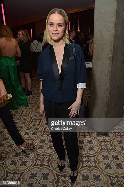 ActressDJ Taryn Manning attends a DJ night hosted by Vanity Fair L'Oreal Paris Hailee Steinfeld at Palihouse Holloway on February 26 2016 in West...