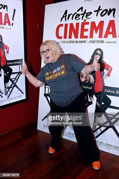 Actresse of the movie Josiane Balasko attends the 'Arrete Ton Cinema ' Paris Premiere at Publicis Champs Elysees on January 6 2016 in Paris France