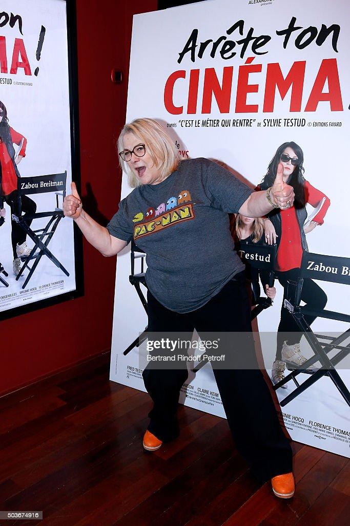 Actresse of the movie Josiane Balasko attends the 'Arrete Ton Cinema !' Paris Premiere at Publicis Champs Elysees on January 6, 2016 in Paris, France.