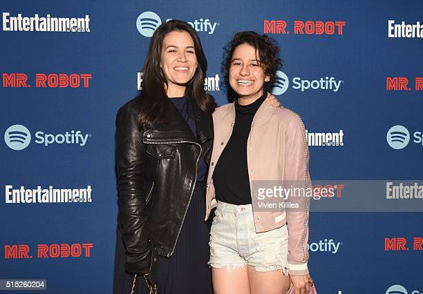 Actresses Abbi Jacobson and Ilana Glazer attend a dinner hosted by Entertainment Weekly celebrating Mr Robot at the Spotify House in Austin TX during...