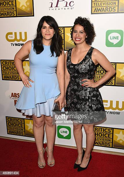 Actresses Abbi Jacobson and Ilana Glazer attend the 4th Annual Critics' Choice Television Awards at The Beverly Hilton Hotel on June 19 2014 in...