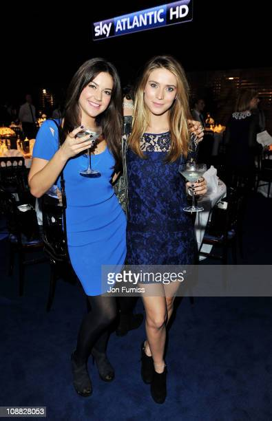 Actresses Abbie Salt and Charlotte Salt attend the launch party for Sky Atlantic HD on February 4 2011 in London England