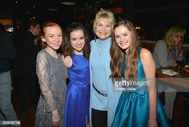Actresses Abby Donnelly Aubrey K Miller Dee Wallace and Olivia Sanabia attend Amazon red carpet premiere screening at the Arclight Hollywood for...