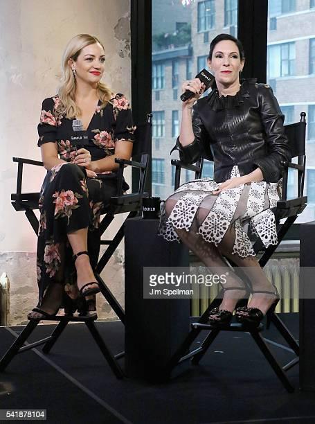 Actresses Abby Elliott and Jill Kargman attend the AOL Build Speaker Series Jill Kargman and Abby Elliott Odd Mom Out Season 2 at AOL Studios In New...