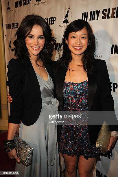Actresses Abigail Spencer and Camille Chen attend the In My Sleep Los Angeles premiere at the ArcLight Cinemas on April 15 2010 in Hollywood...