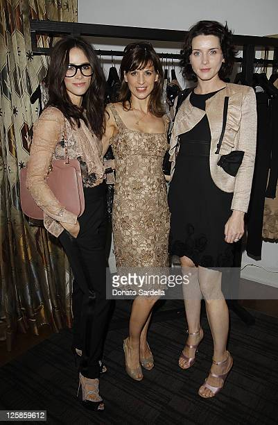 LR Actresses Abigail Spencer Perrey Reeves and Michele Hicks attend Vogue and Valentino Celebrate Spring/Summer 2011 Collection Hosted by Jacqui...