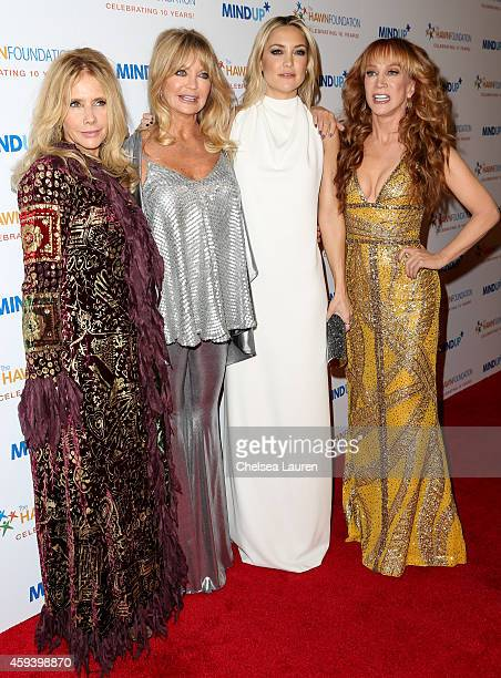 Actresses Actresses Rosanna Arquette Goldie Hawn Kate Hudson and comedienne Kathy Griffin arrive at Goldie Hawn's inaugural 'Love In For Kids'...