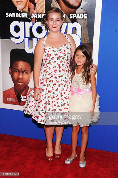 Actresses AdaNicole Sanger and Alexys Nycole Sanchez attend the 'Grown Ups 2' New York Premiere at AMC Lincoln Square Theater on July 10 2013 in New...