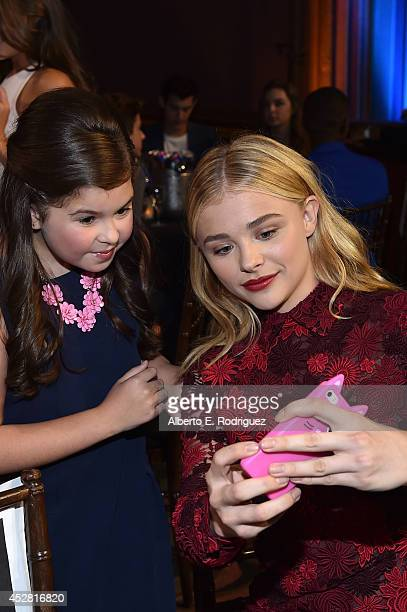 Actresses Addison Riecke and Chloë Grace Moretz in the audience at the 2014 Young Hollywood Awards brought to you by Samsung Galaxy at The Wiltern on...
