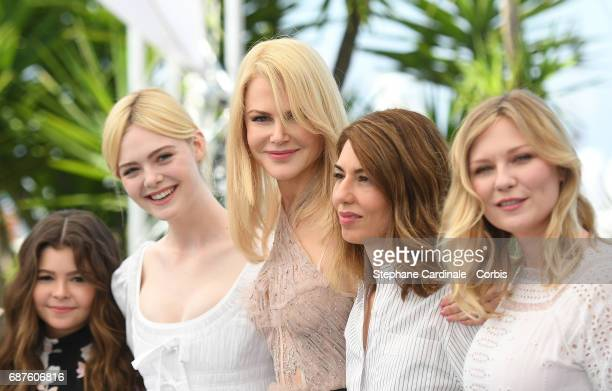 Actresses Addison Riecke Elle Fanning Nicole Kidman director Sofia Coppola and actress Kirsten Dunst attend 'The Beguiled' photocall during the 70th...