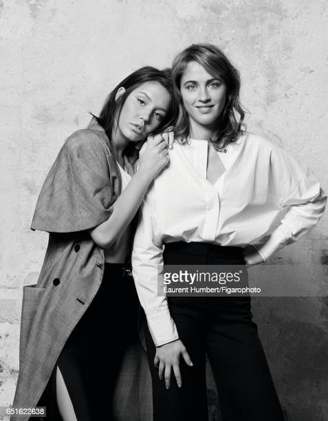 Actresses Adele Haenel and Adele Exarchopoulos are photographed for Madame Figaro on January 21 2017 in Paris France Exarchopoulos Coat and pants...