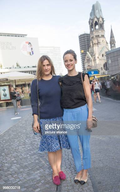 Actresses Adele Haenel and Anja Knauer arrive for a screening of the film 'An Inconvenient Sequel Truth to Power' at the Zoopalast in Berlin Germany...