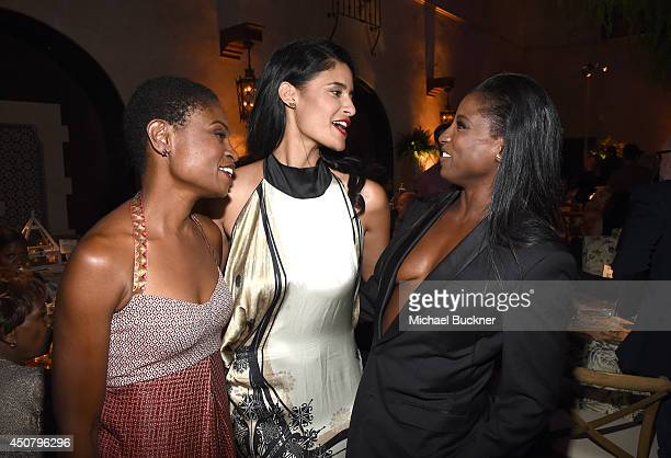 Actresses Adina Porter Jessica Clark and Rutina Wesley attend Premiere Of HBO's 'True Blood' Season 7 And Final Season After Party on June 17 2014 in...
