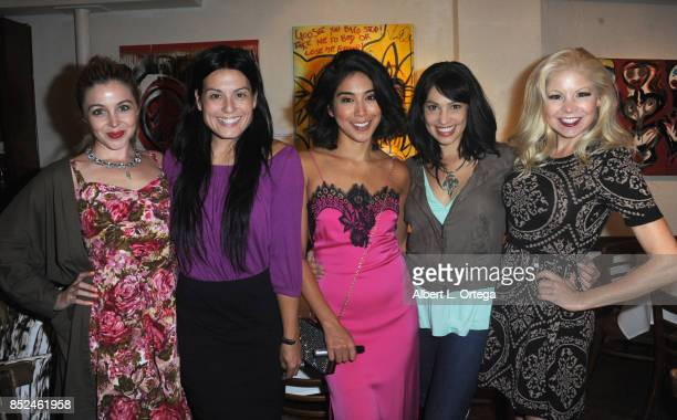 Actresses Afton Jillian Alexis Iacono Vanessa E Garcia Lisa Catara and Anne McDaniels attend the Vanessa E Garcia's Art Show with partial proceeds...