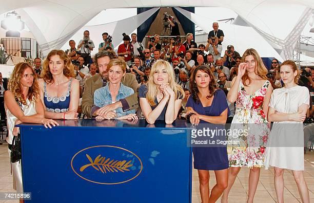 Actresses Agathe de La Fontaine Olatz Lopez Garmendia director Julian Schnabel MarieJosee Croze Emmanuelle Seigner Emma de Caunes Marina Hands and...