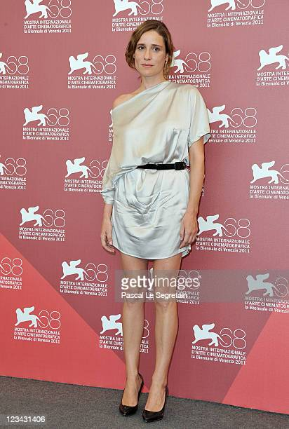 Actresses Aggeliki Papoulia poses at the 'Alpis' photocall during the 68th Venice Film Festival at the Palazzo del Cinema on September 3 2011 in...