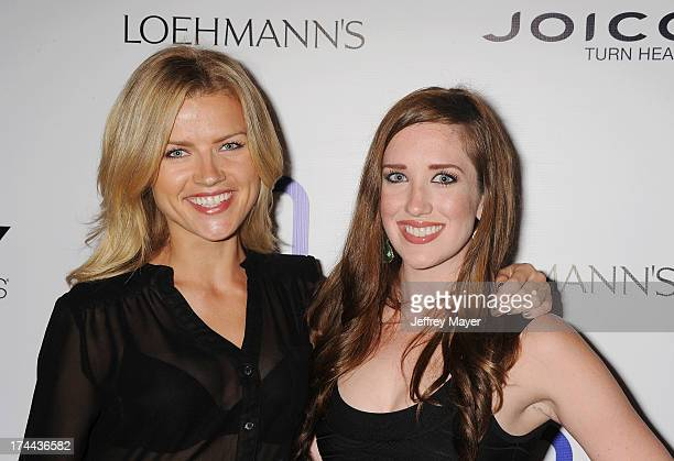 Actresses Agnes Olech and Julia Robertson attend the Friend Movement AntiBullying Benefit Concert at the El Rey Theatre on July 1 2013 in Los Angeles...