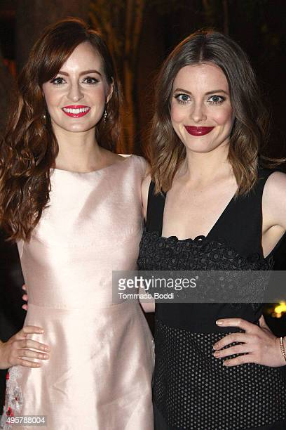 Actresses Ahna O'Reilly and Gillian Jacobs attend the Lela Rose Los Angeles Dinner on November 4 2015 in Los Angeles California