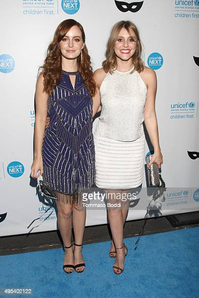 Actresses Ahna O'Reilly and Julianna Guill at the UNICEF Next Generation Third Annual UNICEF Black White Masquerade Ball benefiting UNICEF's...
