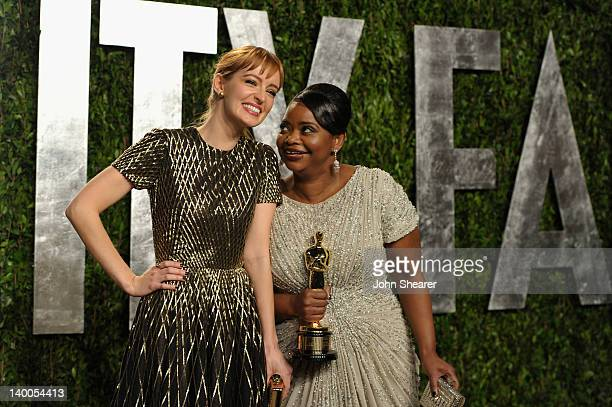 Actresses Ahna O'Reilly and Octavia Spencer arrive at the 2012 Vanity Fair Oscar Party hosted by Graydon Carter at Sunset Tower on February 26, 2012...