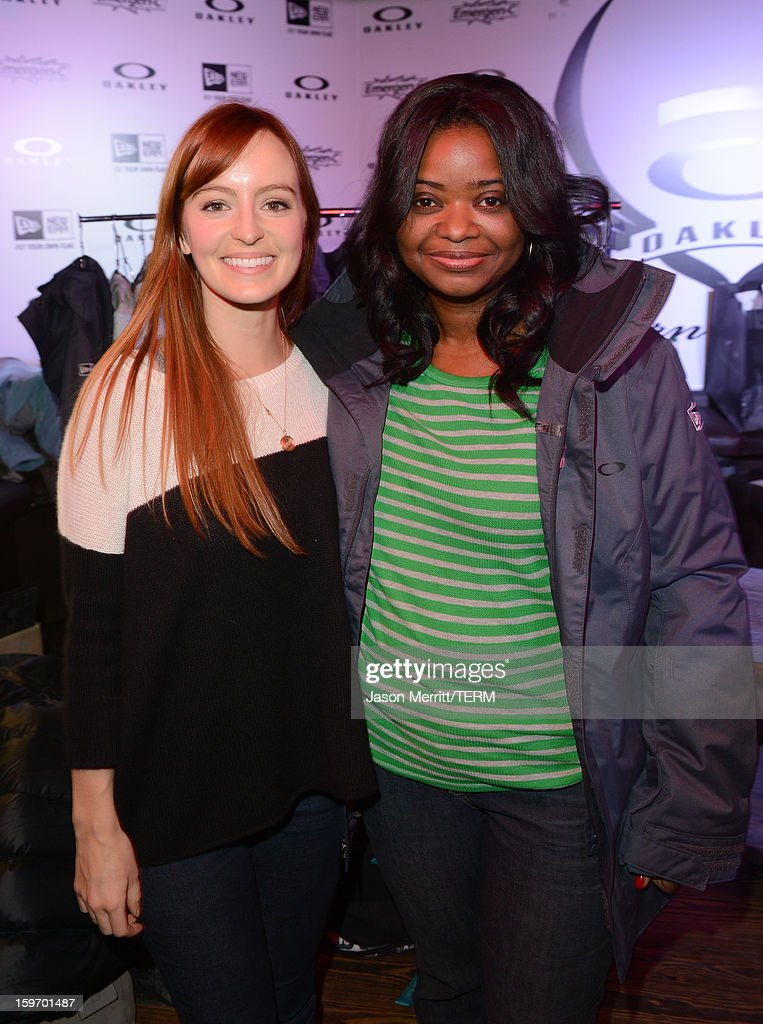 Actresses Ahna O'Reilly and Octavia Spencer celebrate at the Oakley Learn To Ride in collaboration with New Era on January 18, 2013 in Park City, Utah.