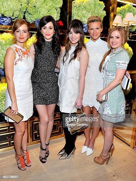 Actresses Ahna O'Reilly, Emmy Rossum, Hailee Steinfeld, model/actress Brooklyn Decker, and actress Isla Fisher attend the Tory Burch Rodeo Drive...