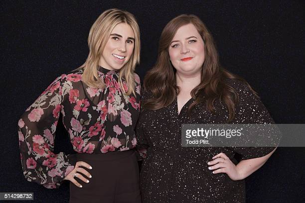 Actresses Aidy Bryant and Zosia Mamet are photographed for USA Today on March 1, 2016 in New York City. PUBLISHED IMAGE.