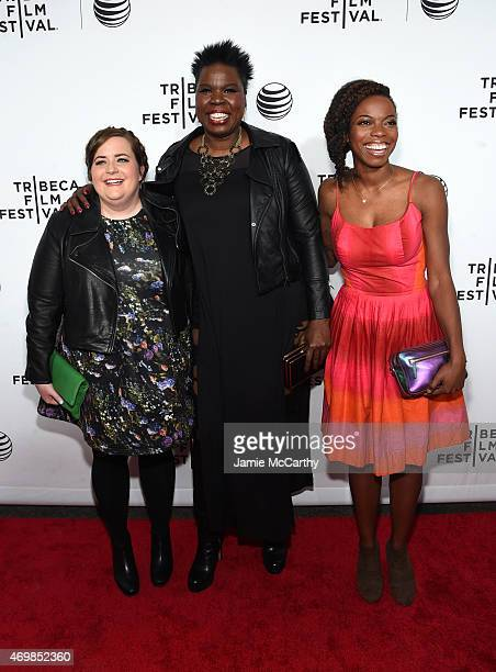 Actresses Aidy Bryant Leslie Jones and Sasheer Zamata attend the Opening Night premiere of Live From New York during the 2015 Tribeca Film Festival...