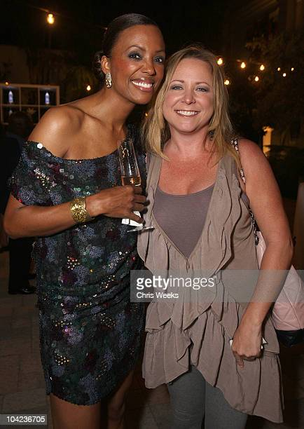 Actresses Aisha Tyler and Karri Turner attend Aisha Tyler's birthday party hosted by Grey Goose at Vibiana on September 17 2010 in Los Angeles...