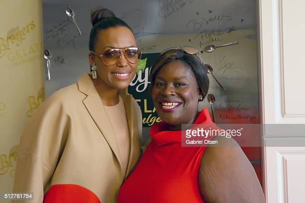 Actresses Aisha Tyler and Retta stopped by the Breyers Gelato Indulgences Hospitality Lounge backstage at the 2016 Film Independent Spirit Awards on...