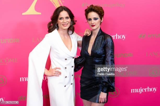 Actresses Aitana SanchezGijon and Ana Maria Polvorosa attend the 10th 'MujerHoy' awards at 'Casino de Madrid' on January 30 2019 in Madrid Spain