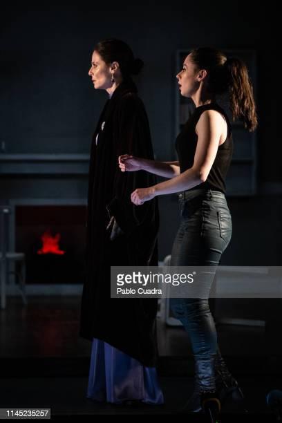 Actresses Aitana SanchezGijon and Elena Rivera perform on stage La Vuelta De Nora Casa De Muñecas 2 at Bellas Artes Theatre on April 26 2019 in...