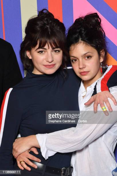 Actresses Alba Gaia Bellugi and Noee Abita attend the Une Ile Photocall during the 2nd Series Mania Festival on March 27 2019 in Lille France