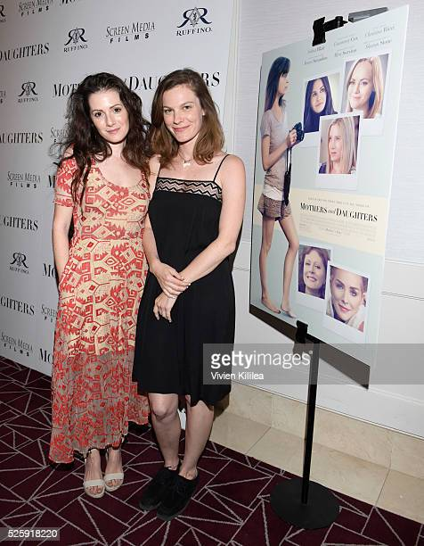 Actresses Aleksa Palladino and Lindsay Burdge attend Ruffino Wine Presents The Los Angeles Premiere Of 'Mothers And Daughters' at The London West...