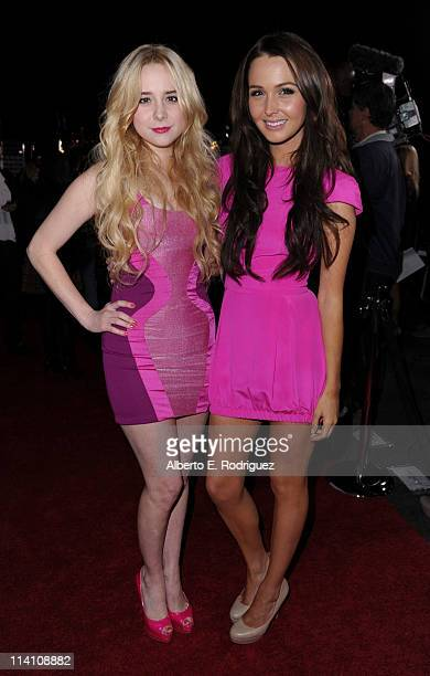 Actresses Alessandra Torresani and Camilla Luddington pose with New Era during the 2011 Maxim Hot 100 Party held at Eden on May 11 2011 in Hollywood...