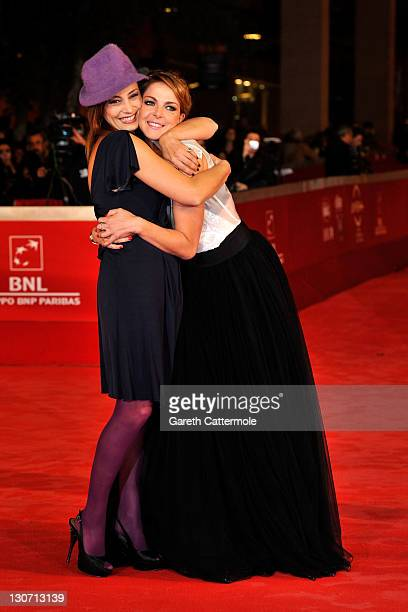 Actresses Alessia Barela and Claudia Gerini attend the Il Mio Domani Premiere during the 6th International Rome Film Festival on October 28 2011 in...