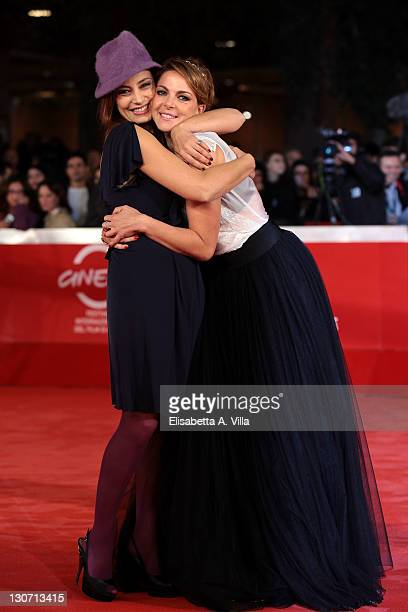 Actresses Alessia Barela and Claudia Gerini attend the Il Mio Domani Premiere during the 6th International Rome Film Festival at Auditorium Parco...
