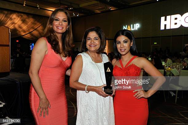 Actresses Alex Meneses and Chrissie Fit attend the NALIP 2016 Latino Media Awards at Dolby Theatre on June 25 2016 in Hollywood California