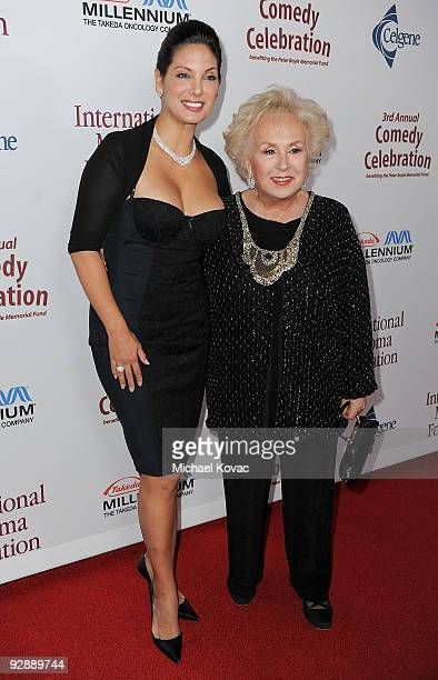 Actresses Alex Meneses and Doris Roberts arrives at the International Myeloma Foundation's 3rd Annual Comedy Benefit Celebration at The Wilshire...