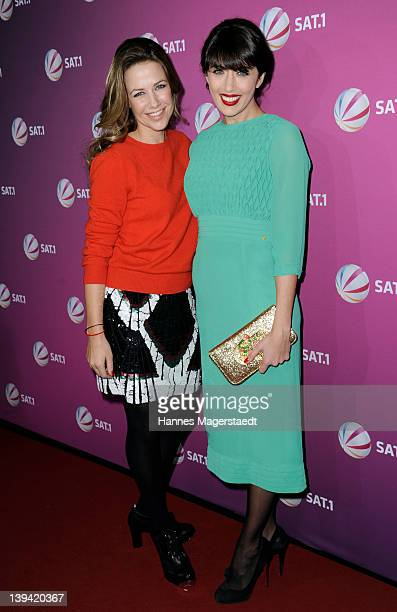 Actresses Alexandra Neldel and Nolwenn Leroy attend 'Die Rache Der Wanderhure' - Photocall at the G.O.P. Variete on February 20, 2012 in Munich,...
