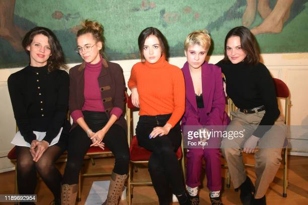 Actresses Alexandra Oppo Margot Lourdet Lou Gala Lea Furic and Clémence Boisnard attend the Poesie En Liberté 2019 Awards Ceremony At Mairie Du 5eme...