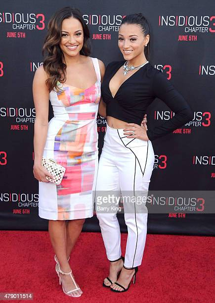 Actresses Alexandra Rodriguez and Danielle Vega attend the premiere of Focus Features' 'Insidious Chapter 3' at the TCL Chinese Theatre on June 4...