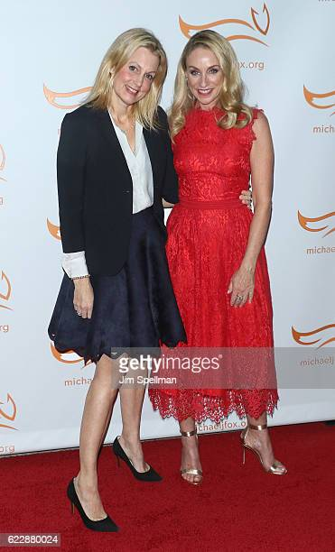 Actresses Alexandra Wentworth and Tracy Pollan attend the 2016 A Funny Thing Happened On The Way To Cure Parkinson's at The Waldorf Astoria on...
