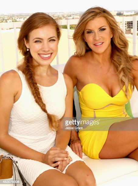 Actresses Alexia Dox and Allison Dunbar attend Hulu's TCA Presentation And Cocktail Party at The Beverly Hilton Hotel on July 12 2014 in Beverly...